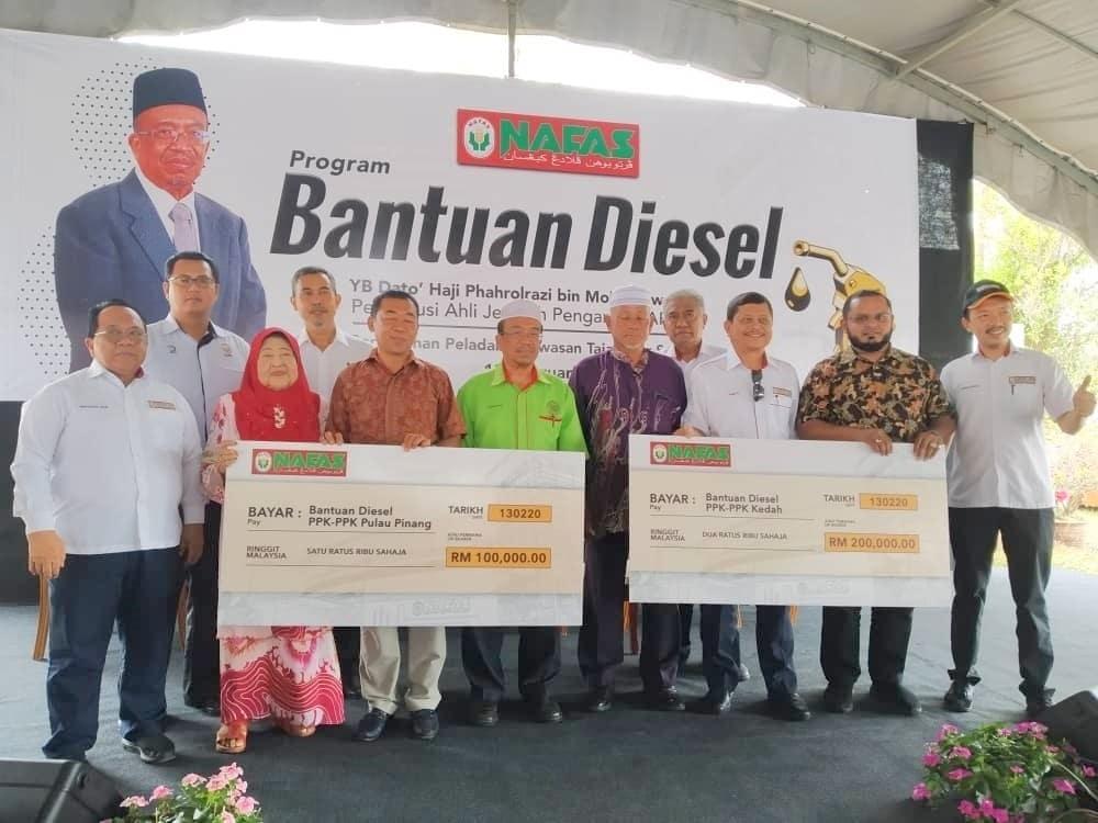 Nafas sumbang peruntukan diesel RM300ribu bantu petani Kedah, P. Pinang