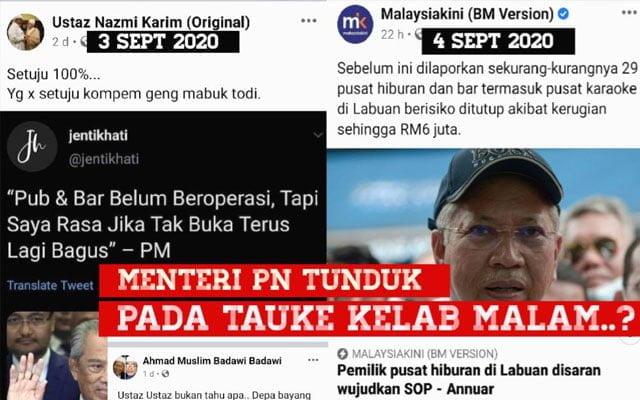 Menteri PN dan UMNO tunduk pada tauke kelab malam ?
