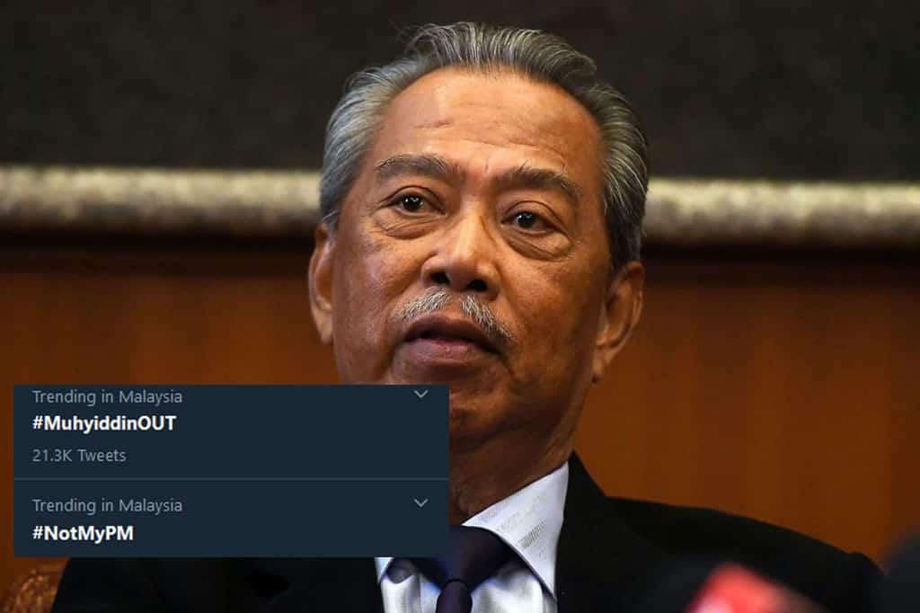 Darurat : 'Muhyiddin Out' kini trending di laman sosial