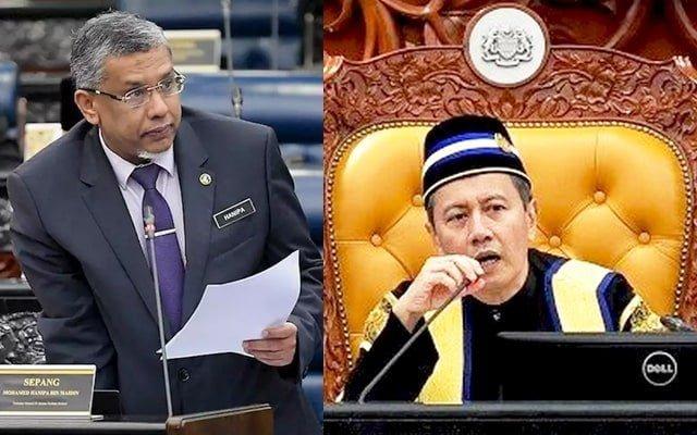 Kecoh !!! Hanipa tegur speaker kerana tolong jawab bagi pihak menteri