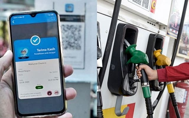 Wajib scan 'MySejahtera' waktu isi minyak, isi angin dan guna tandas stesen minyak, denda RM1000