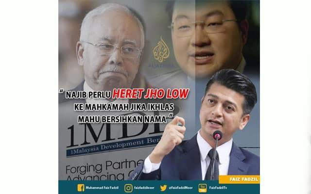 Hanya Jho Low boleh bersihkan nama Najib