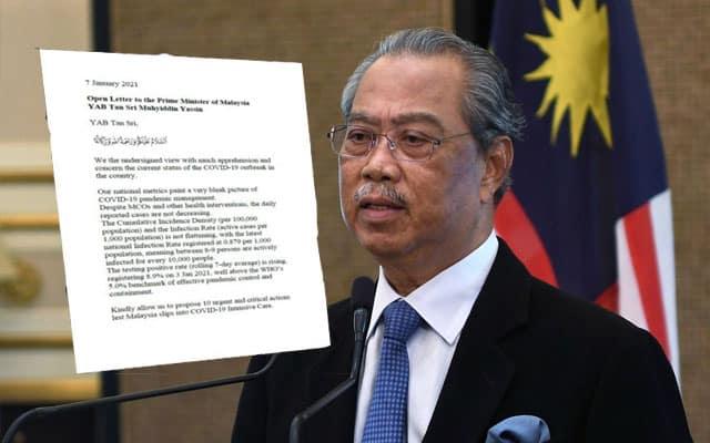Covid-19 : 46 Pakar Kesihatan utus surat terbuka kepada PM