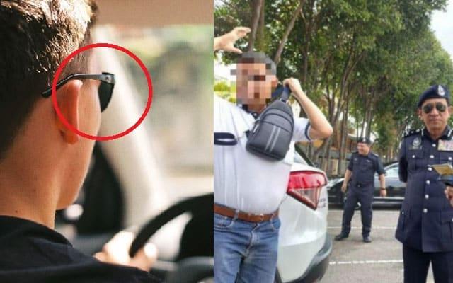 Mak oiii !!! Pakai 'ray ban' waktu memandu pun kena saman, ini penjelasan polis…