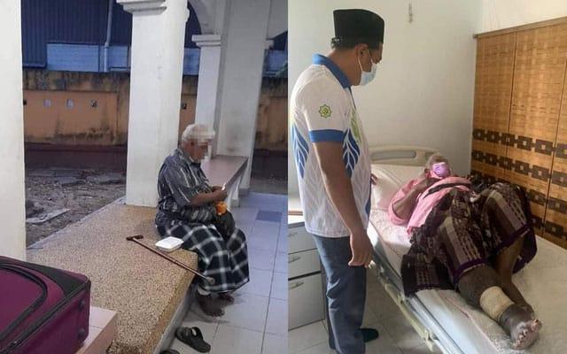 Keluarga kononnya ajak pergi solat jemaah, tapi akhirnya warga emas ini ditinggalkan keseorangan di surau