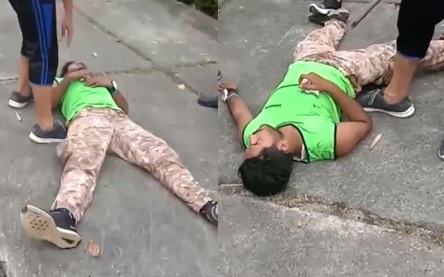 Orang awam berang dengan tindakan warga asing ini raba, peluk wanita dan kanak-kanak sedang jogging
