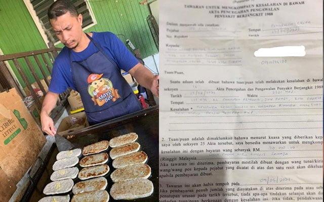 Peniaga burger terkejut dikompaun RM50,000 ketika menyiapkan pesanan pelanggan