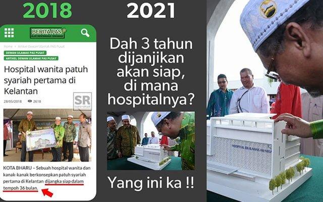 """Projek hospital patuh syariah pertama di Kelantan dah """"ghaib""""?"""