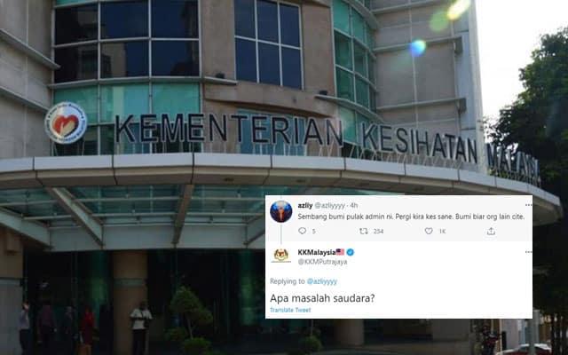 Panas !!! Admin page KKM koyak, '#ApaMasalahSaudara pula trending