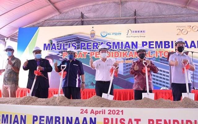 Ketua Menteri P.Pinang lancar projek pembinaan Pusat Pendidikan Islam Al-Itqan bernilai RM15 juta