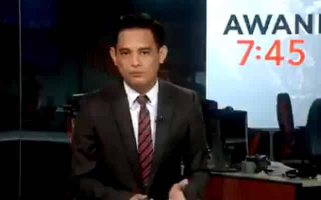 """Tular pembaca berita """"sound"""" otak di lutut live di TV, polis siasat Astro Awani"""