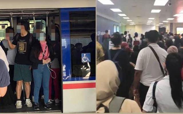 Kapasiti 50% penumpang : Dalam tren tak sesak, di stesen tren pulak jadi sesak