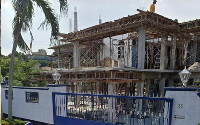 'Istana' Tajuddin tengah renovation pula jadi tumpuan netizen