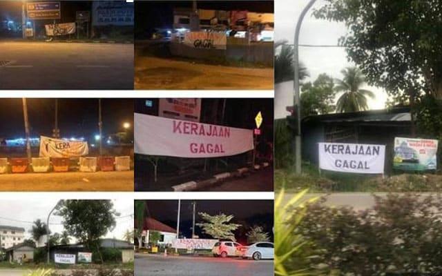 Kain rentang 'Kerajaan Gagal' kini merebak ke Kelantan