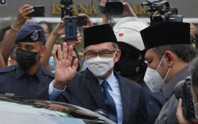 Terkini !!! Ini respon Anwar setelah selesai menghadap Agong