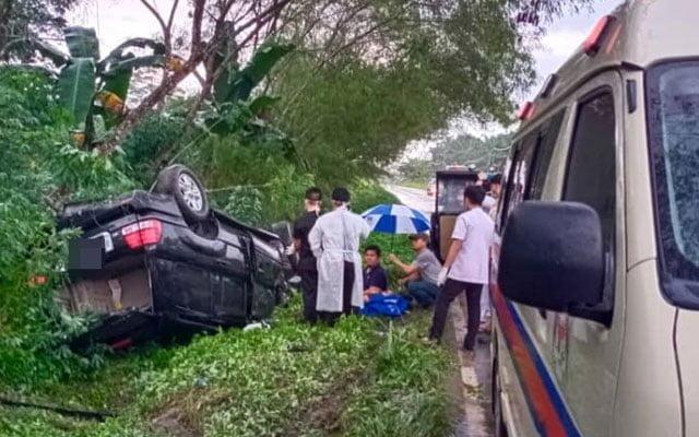 Adun BN kemalangan, kenderaan terbalik