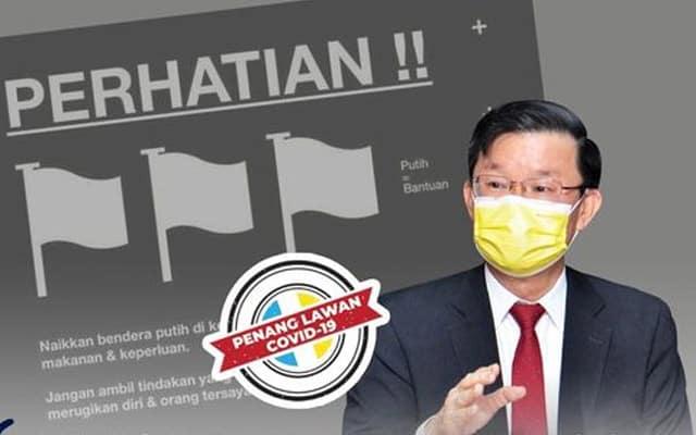 Bendera Putih : Kerajaan P. Pinang umum bantuan RM1.04 juta