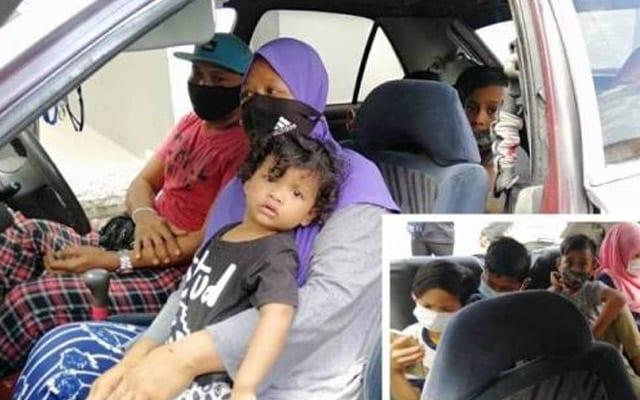 Sudah seminggu 7 sekeluarga ini terpaksa tidur dalam kereta