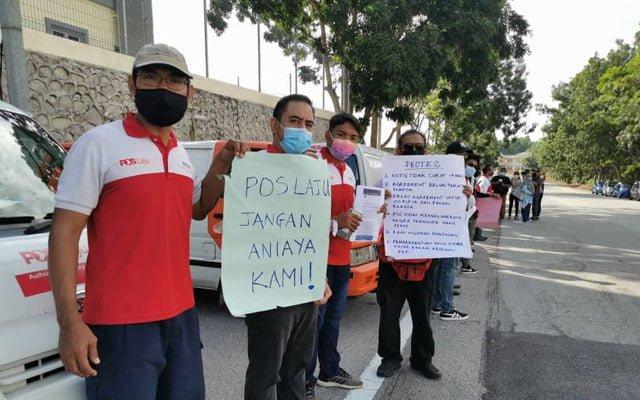 23 pekerja Pos rider kecewa ditamat kontrak waktu kritikal