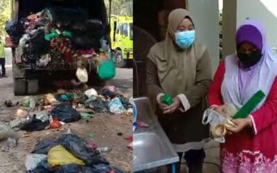 Terbuang barang kemas bernilai RM70 ribu, wanita sanggup selongkar lori sampah